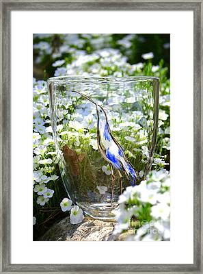 Vinsanchi Glass Art-3 Framed Print by Vin Kitayama
