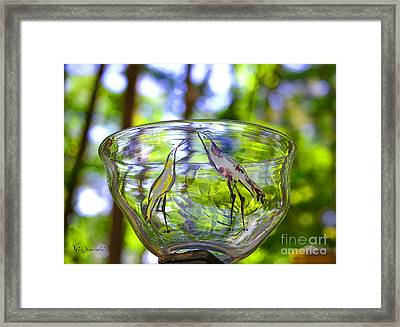 Vinsanchi Glass Art-4 Framed Print by Vin Kitayama