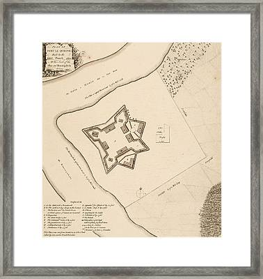 Vintage 1768 Pittsburgh Map Framed Print by Dan Sproul