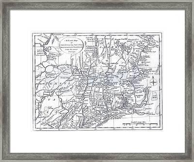 Vintage 1778 New England Map Framed Print