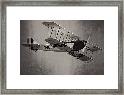Vintage 1917 Curtiss Jn-4d Jenny Flying  Framed Print