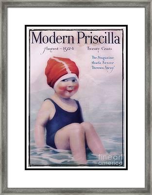 Vintage 1924 - Modern Priscilla Framed Print