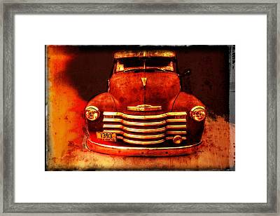 Vintage 1950 Chevy Truck Framed Print