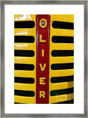 Vintage 1950 Oliver Tractor Framed Print