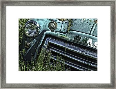 Vintage 1950s Gmc Truck Framed Print
