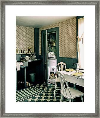 Vintage 1950s Kitchen Framed Print