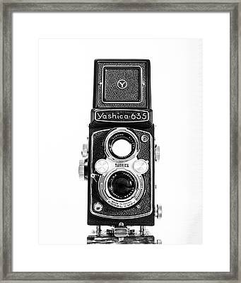 Vintage 1950s Yashica 635 Camera Framed Print by Jon Woodhams