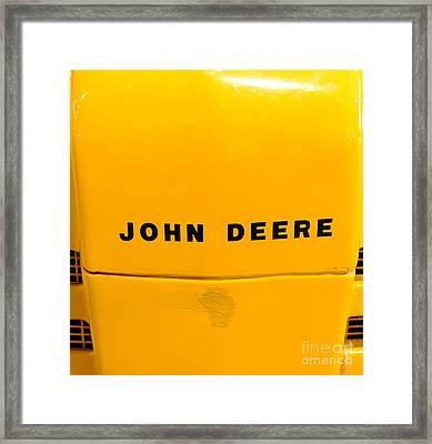 Vintage 1952 John Deere Tractor In Yellow Framed Print