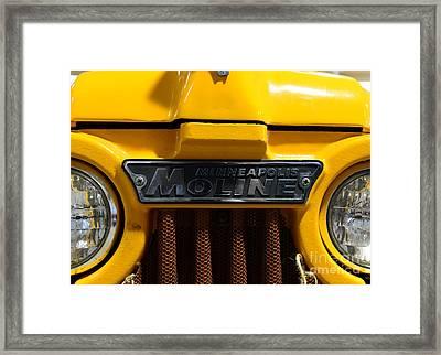 Vintage 1962 Moline 4 Star Tractor Framed Print