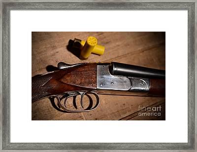 Vintage 20 Gauge Double Barrel Shotgun Framed Print by Jt PhotoDesign