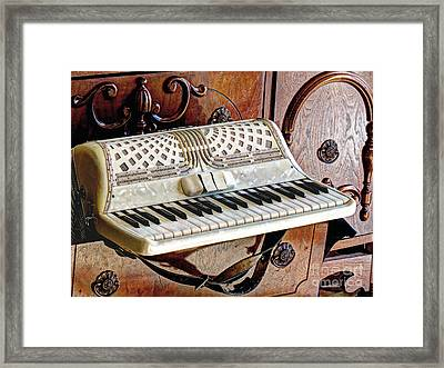Vintage Accordion Framed Print by Chris Anderson