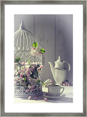 Vintage Afternoon Tea Framed Print by Amanda Elwell