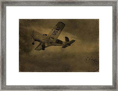 Vintage Air Force Flight World War Two Framed Print by Dan Sproul