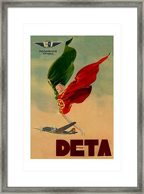 Vintage Airline Ad 1939 Framed Print by Andrew Fare