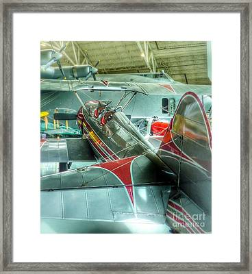 Vintage Airplane Comparison Framed Print by Susan Garren