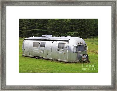 Vintage Airstream Trailer Framed Print by Edward Fielding