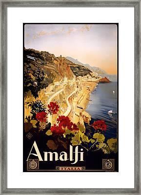 Vintage Amalfi Travel Poster 1915 Framed Print