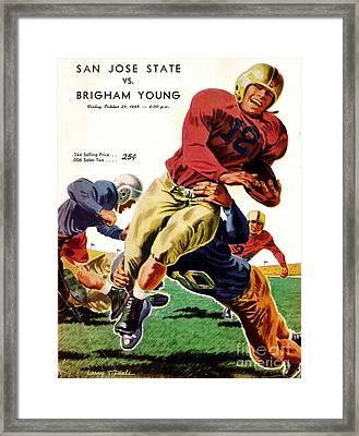 Vintage American Football Poster Framed Print