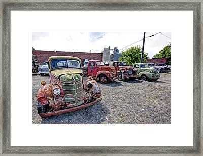 Vintage American Truck Lineup 2 Framed Print