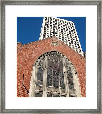 Framed Print featuring the photograph Vintage And Modern by Connie Fox