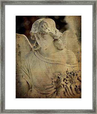 Vintage Angel Collage Framed Print by Gothicrow Images