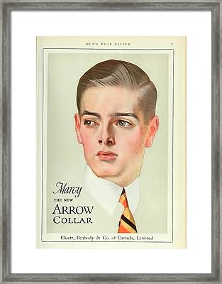 Vintage Arrow Shirts Advert Framed Print