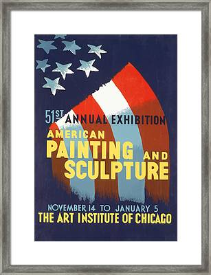 Framed Print featuring the mixed media Vintage Art Institute Of Chicago by American Classic Art