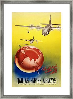 Vintage Australia Travel Poster Framed Print