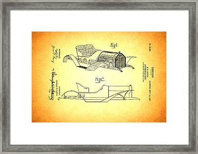 Vintage Auto Body Design Patent 1907 Framed Print by Mountain Dreams