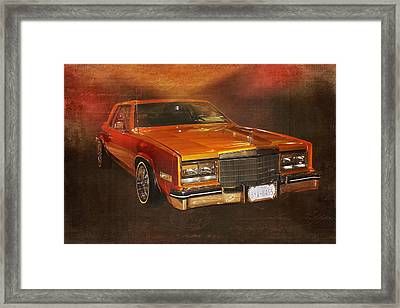 Vintage Automobile 1970s Cadillac Low Rider Framed Print by Terry Fleckney