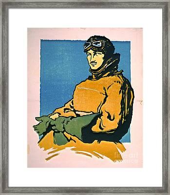 Vintage Aviator 1916 Framed Print by Padre Art
