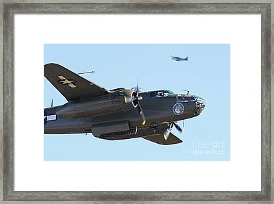 Vintage B-25 Mitchell Bomber Framed Print