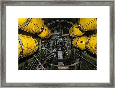 Vintage B24 Liberator Bomber Bay Framed Print