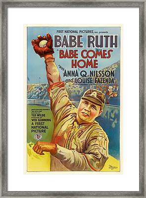 Vintage Babe Comes Home Movie Poster Framed Print by Mountain Dreams