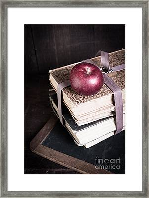 Vintage Back To School Framed Print by Edward Fielding
