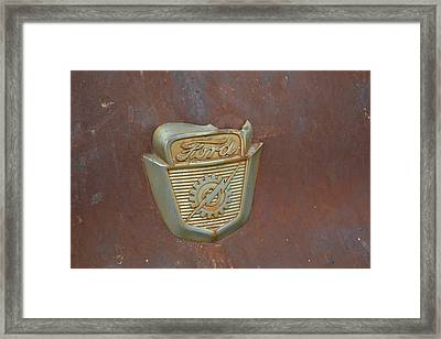 Vintage Badge Framed Print