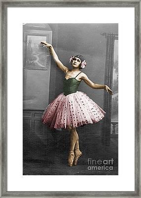 Vintage Ballerina  Framed Print by Lyric Lucas