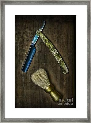 Vintage Barber Tools Framed Print by Paul Ward