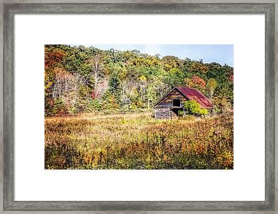 Vintage Barn Framed Print by Debra and Dave Vanderlaan