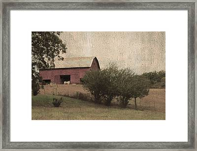 Vintage Barn Scene Framed Print