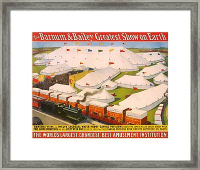 Vintage Barnum And Bailey Poster Framed Print by Mountain Dreams