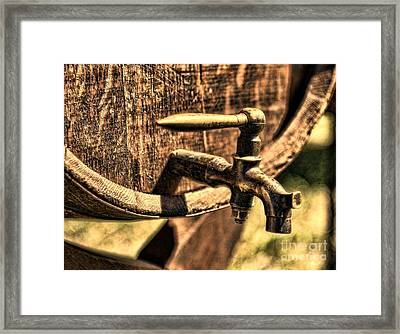 Vintage Barrel Tap Framed Print by Paul Ward