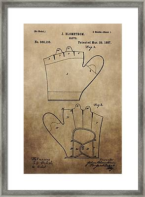 Vintage Baseball Glove Patent Framed Print by Dan Sproul