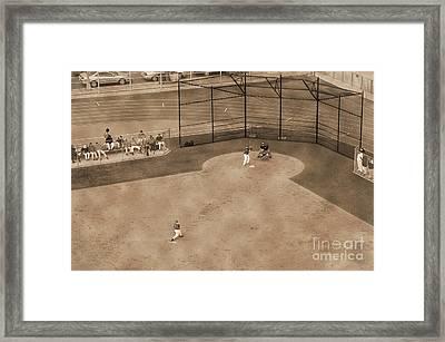 Vintage Baseball Playing Framed Print by RicardMN Photography