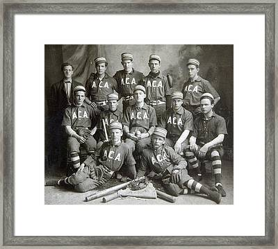 Vintage Baseball Team Framed Print by Russell Shively