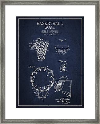Vintage Basketball Goal Patent From 1936 Framed Print
