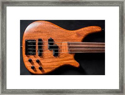 Vintage Bass Guitar Body Framed Print