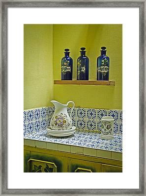 Vintage Bathroom Framed Print