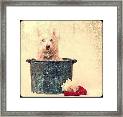 Vintage Bathtime Framed Print by Edward Fielding