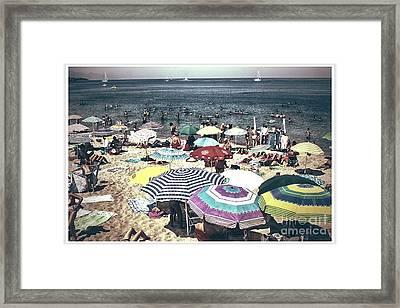 Vintage Beach Framed Print by Stefano Senise